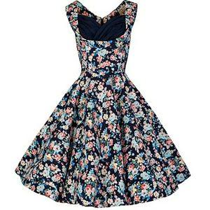 LINDY BOP ophelia dark blue floral dress